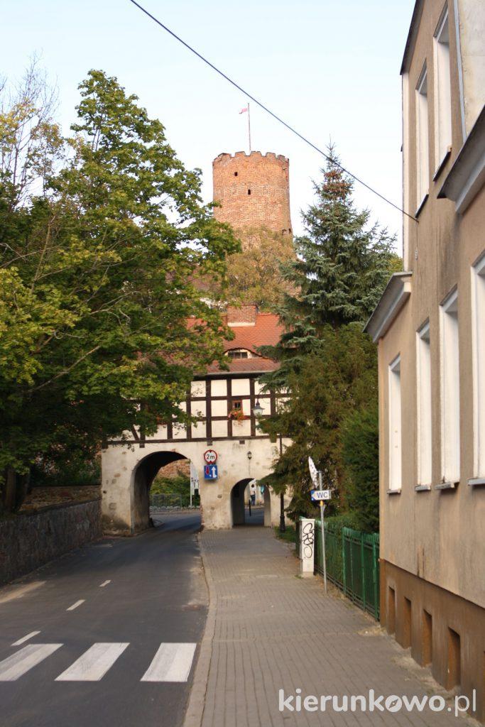brama marchijska i zamek w łagowie lagow