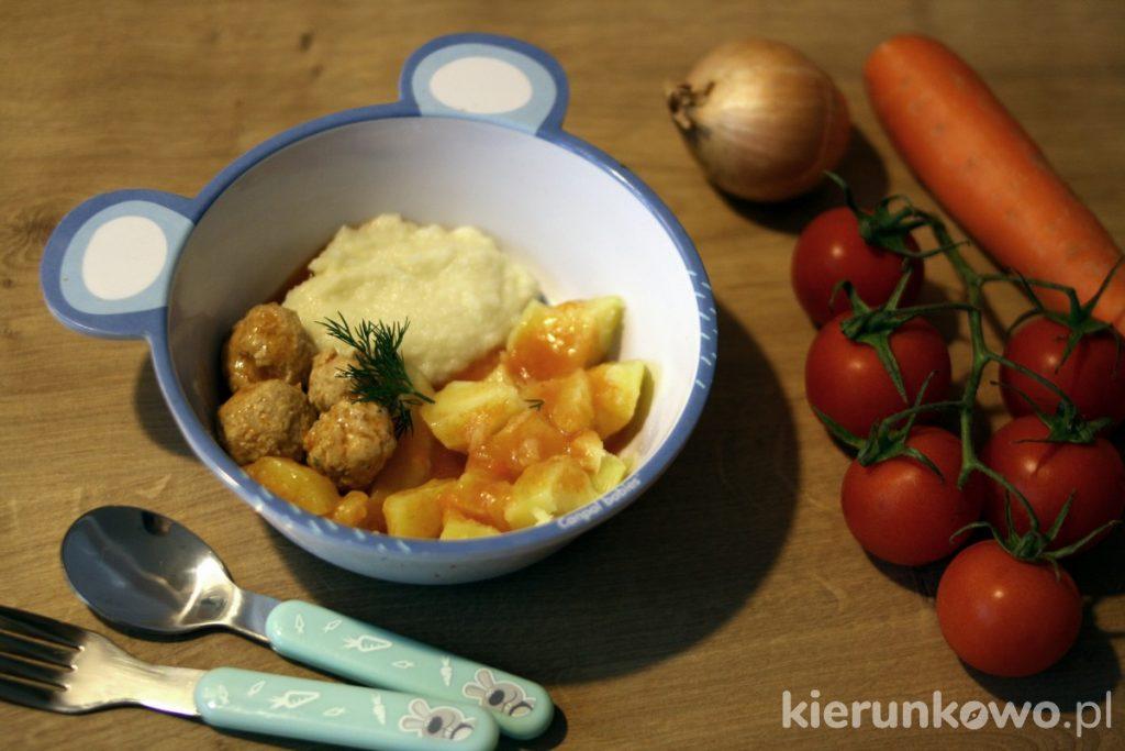 pulpeciki z sosem pomidorowym obiad dla rocznego dziecka