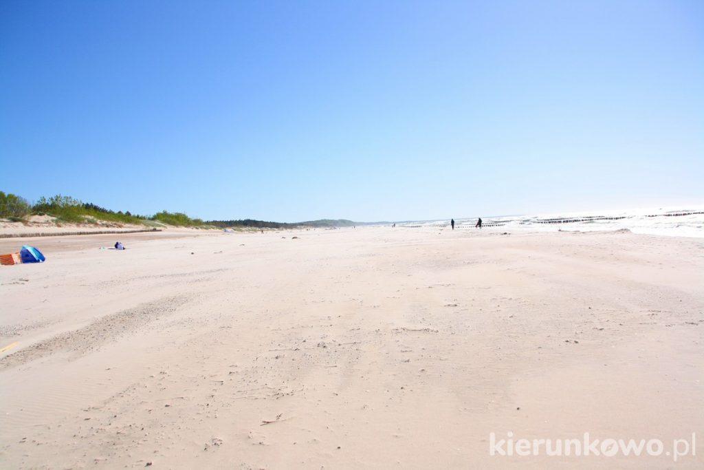 plaża w rowach rowy