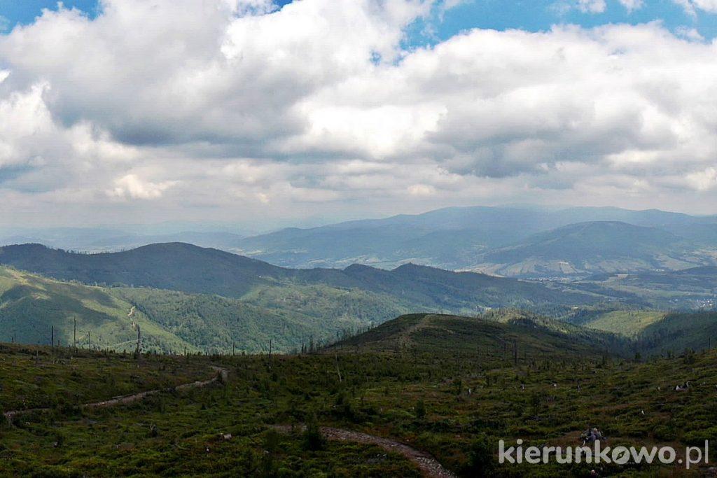 barania góra z przełęczy szarcula