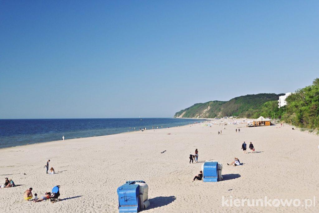 Plaża wschodnia w Międzyzdrojach
