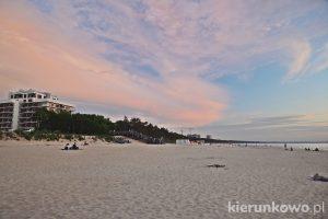 Zachodnia plaża w Międzyzdrojach