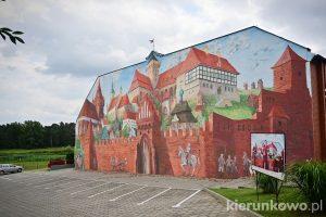 Mural historyczny w Pyzdrach ciekawe miejsca w pyzdrach