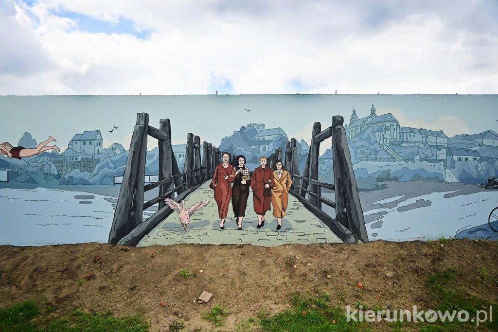 Mural nad Wartą w Pyzdrach ciekawe miejsca w pyzdrach