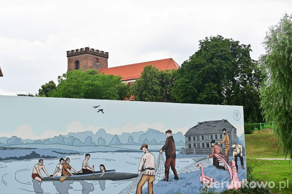 Mural nad Wartą w Pyzdrach